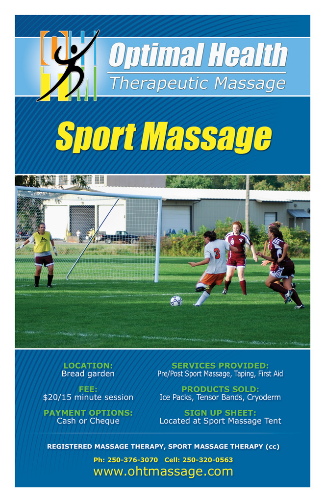 Sports Massage Therapy Kamloops Soccer League